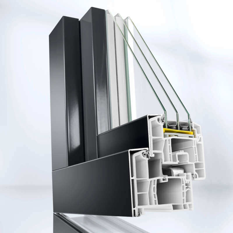 Termoplast - Fenêtres plaquées aluminium PVC et Rau Fipro