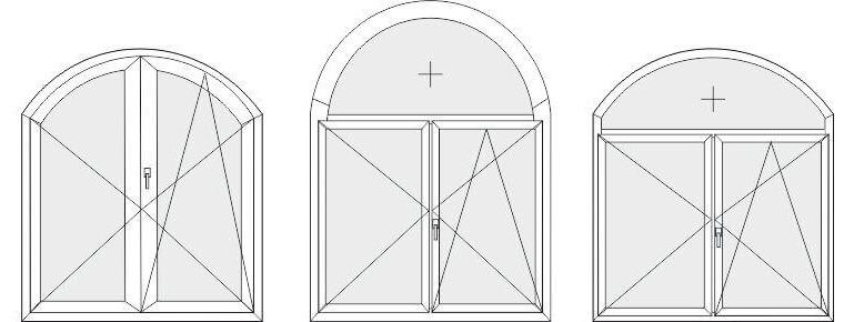 Fenêtres et portes cintrées en PVC Termoplast